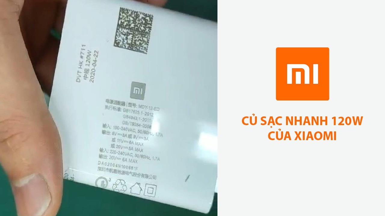 Rò rỉ hình ảnh cục sạc nhanh với công suất lên đến 120W của Xiaomi