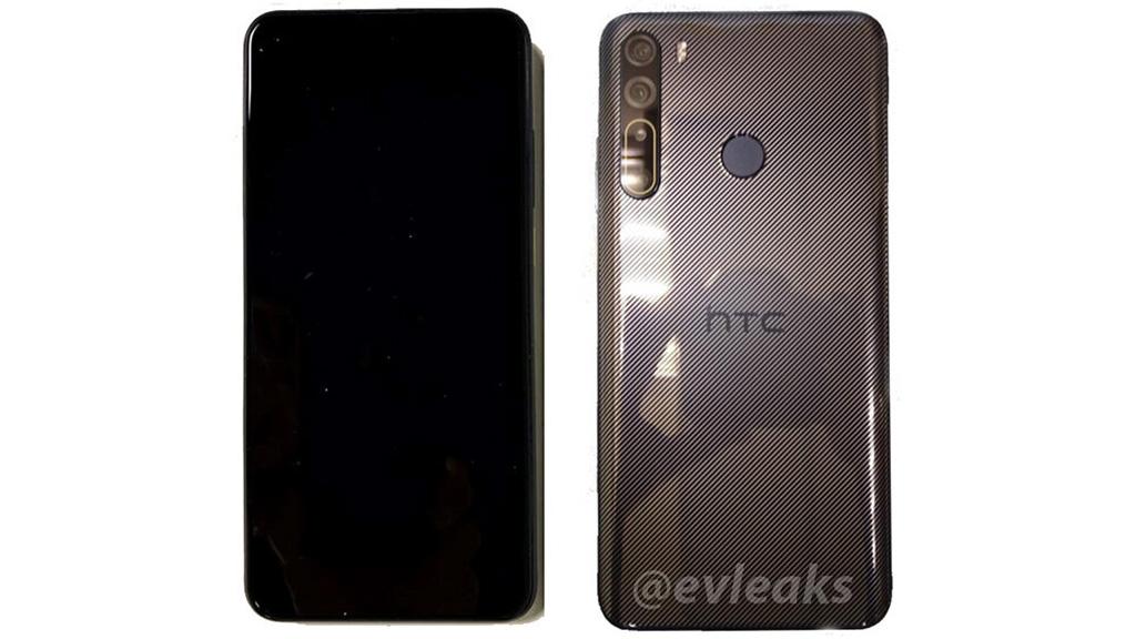 HTC Desire 20 Pro lộ hình ảnh thiết kế với màn hình ''đục lỗ'', 4 camera sau, cảm biến vân tay ở mặt lưng