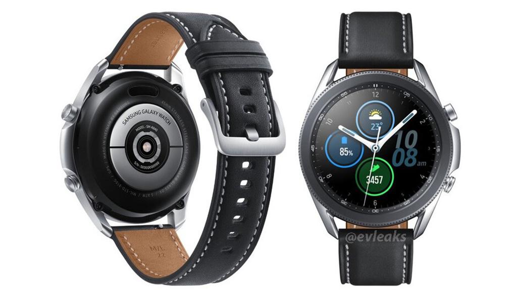 Galaxy Watch 3 lộ hình ảnh render sắc nét: Viền bezel xoay vật lý đã quay trở lại