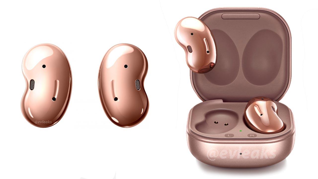 Galaxy Buds Live lộ ảnh render với thiết kế hình hạt đậu, kèm tính năng chống ồn chủ động