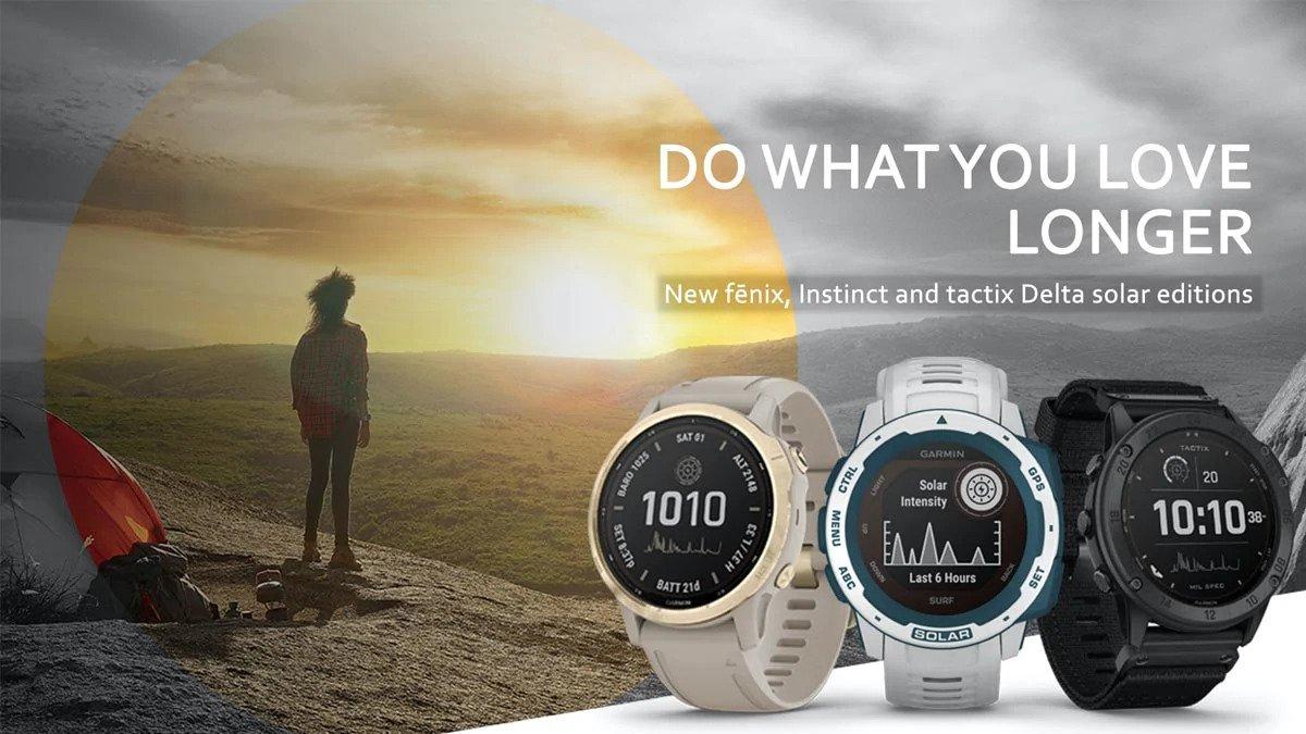 Garmin® trình làng loạt smartwatch chạy bằng năng lượng mặt trời, có thể hoạt động tới 50 ngày/lần sạc