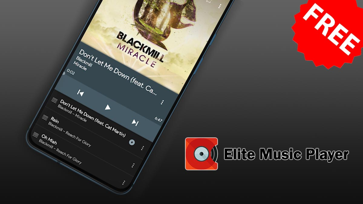 Nhanh tay tải miễn phí Elite Music Player: trình phát nhạc trị giá 308.000đ đang miễn phí trên Google Play Store