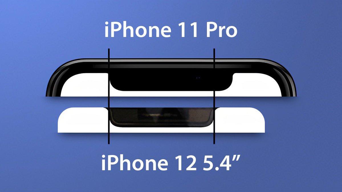 Màn hình 5,4 inch của iPhone 12 5G bị rò rỉ, cho thấy rãnh tai thỏ mới nhỏ hơn