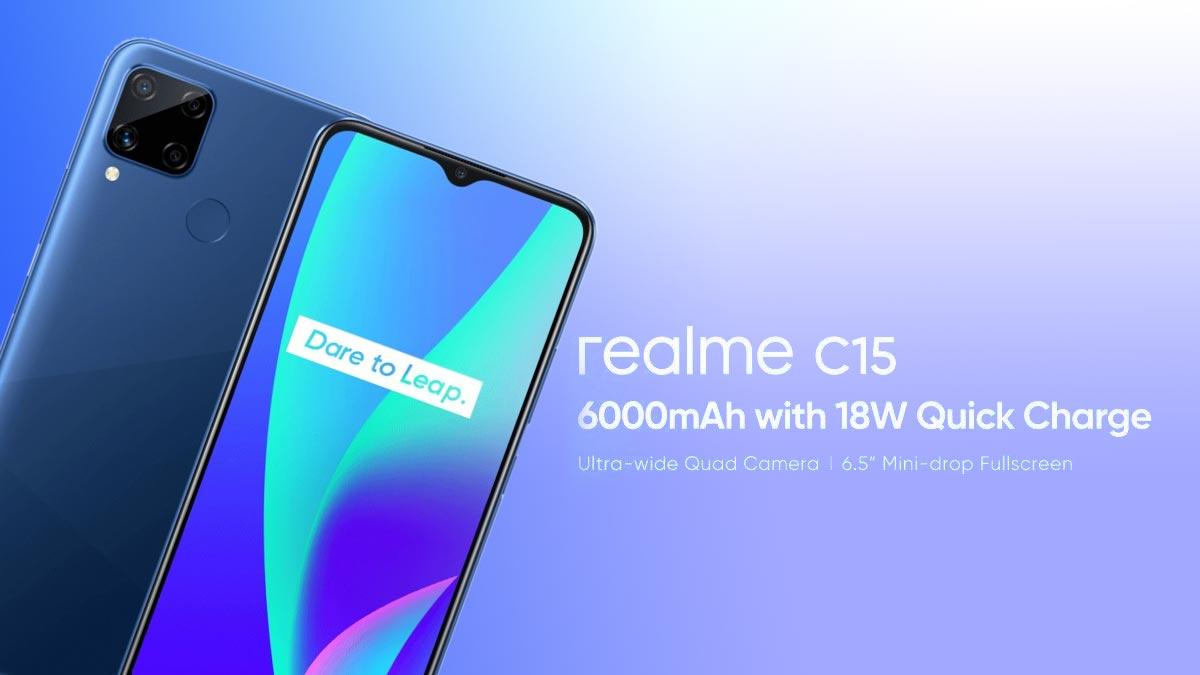 Realme C15 ra mắt: Helio G35, 4 camera sau, pin 6000mAh, giá từ 3.2 triệu đồng