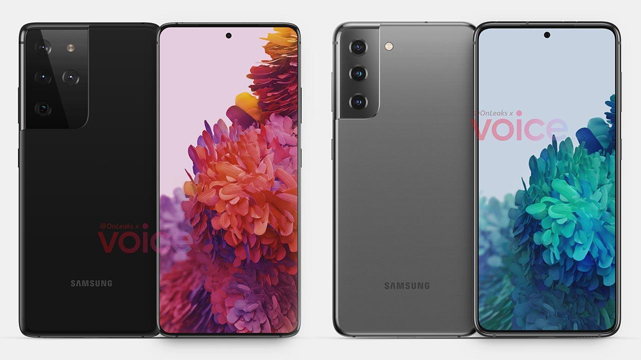Samsung Galaxy S21 và S21 Ultra lộ ảnh render với cụm camera kiểu mới