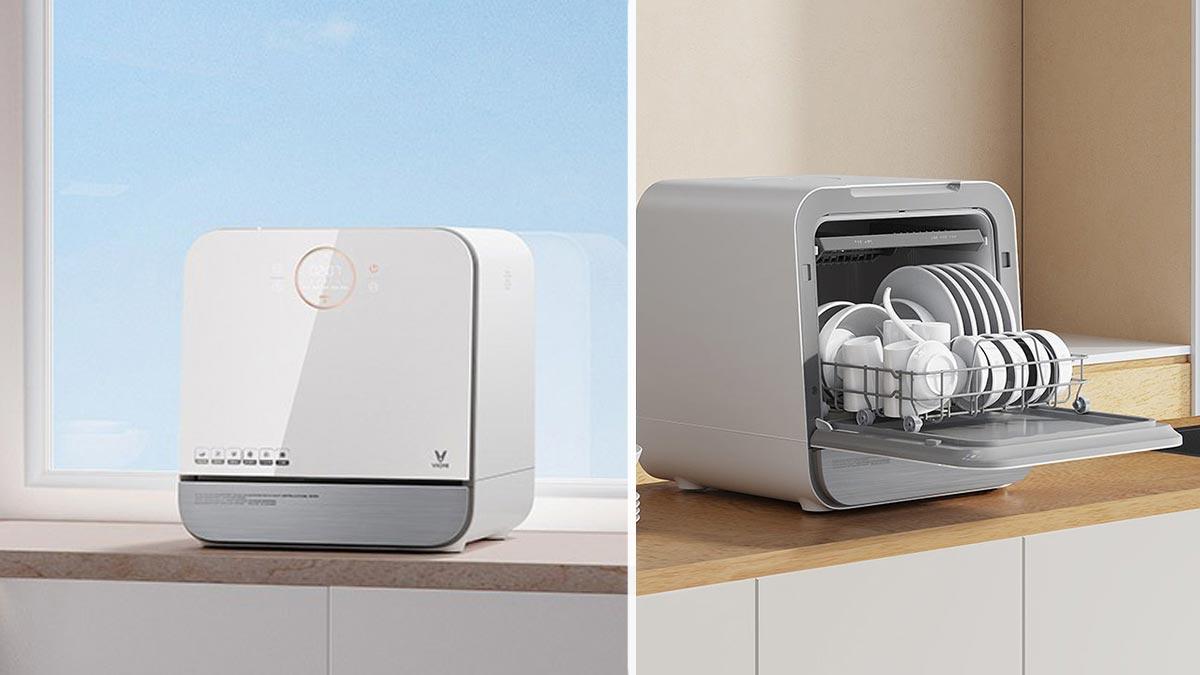 Viomi Countertop Dishwasher Sugar: Máy rửa chén bát thông minh của Xiaomi: Khử trùng UV, làm khô bằng không khí nóng, giá 3.5 triệu đồng