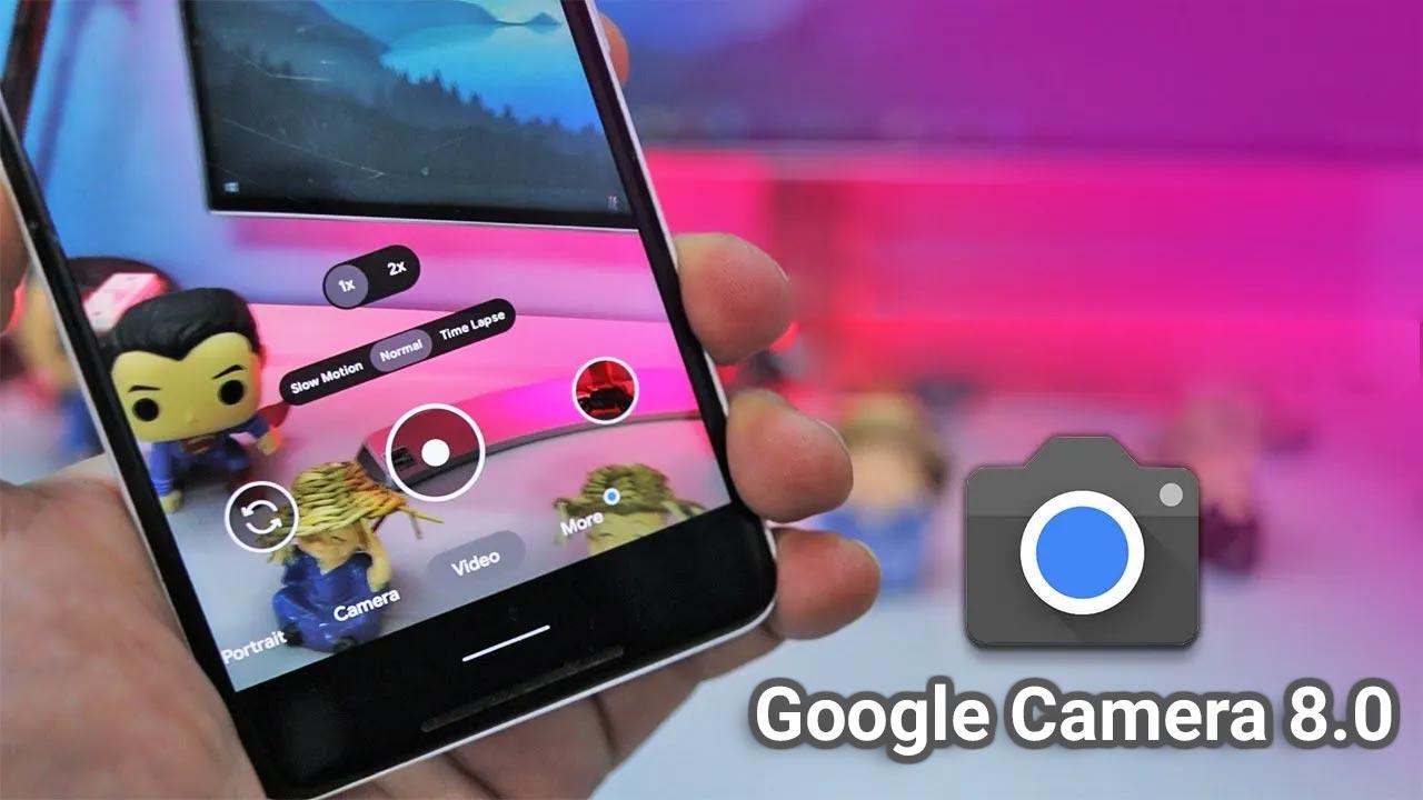 Chia sẻ file APK ứng dụng Google Camera 8.0 được mod bởi dev Arnova8G2, cài đặt trên nhiều thiết bị Android
