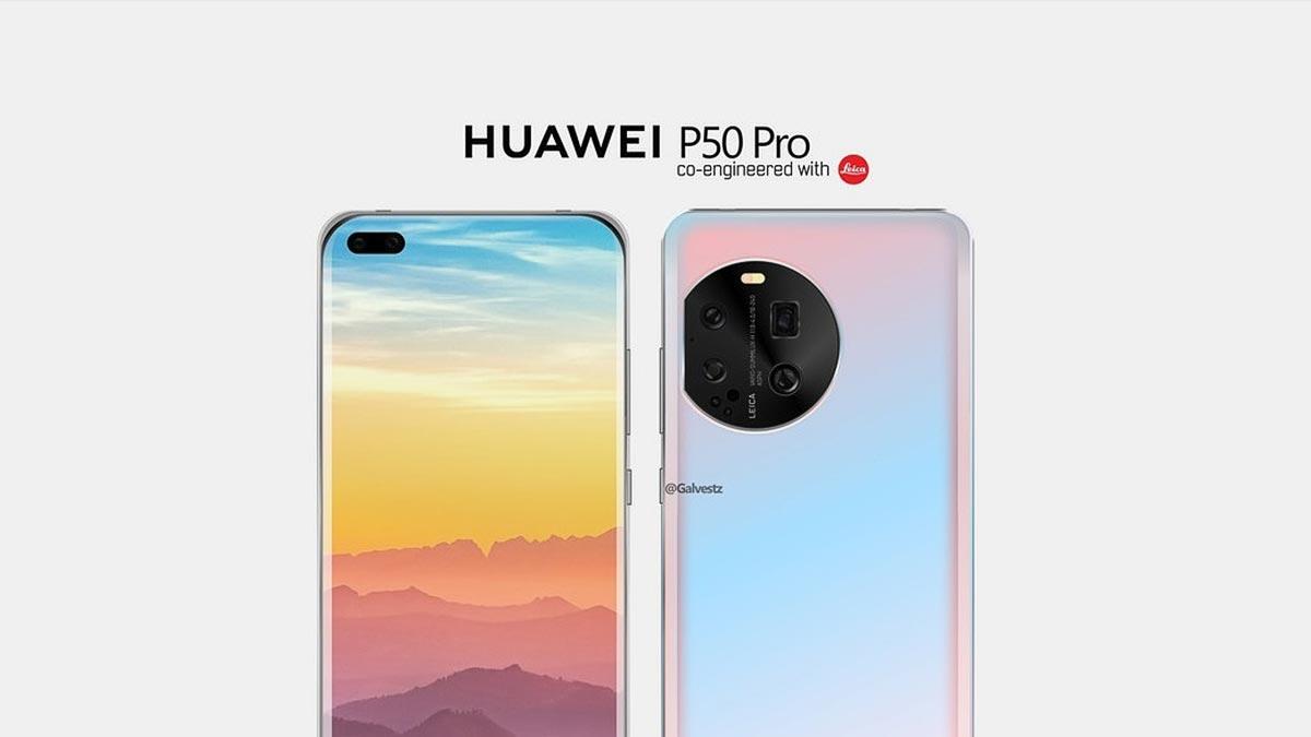 Lộ hình ảnh thiết kế đầu tiên của Huawei P50 Pro, với cụm camera sau ''khuyết tật''